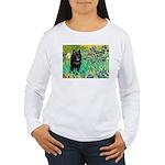 Irises / Schipperke #2 Women's Long Sleeve T-Shirt