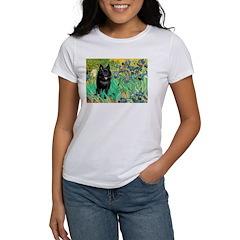 Irises / Schipperke #2 Women's T-Shirt