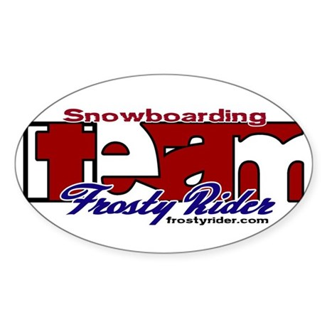 Frosty Rider Team Oval Sticker