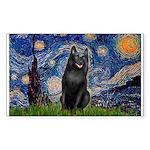 Starry / Schipperke #5 Sticker (Rectangle 50 pk)