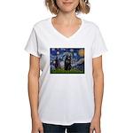 Starry / Schipperke #5 Women's V-Neck T-Shirt