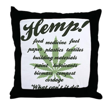 Hemp -WCID Throw Pillow