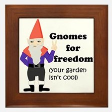 Gnomes For Freedom Framed Tile