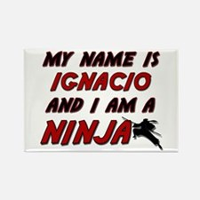 my name is ignacio and i am a ninja Rectangle Magn