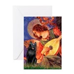 Mandolin / Schipperke #5 Greeting Card