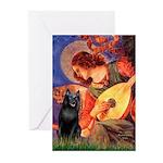 Mandolin / Schipperke #5 Greeting Cards (Pk of 10)