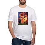 Mandolin / Schipperke #5 Fitted T-Shirt
