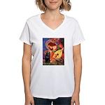 Mandolin / Schipperke #5 Women's V-Neck T-Shirt