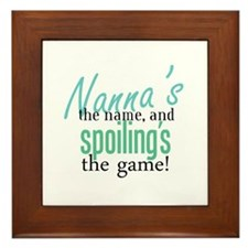 Nanna's the Name Framed Tile