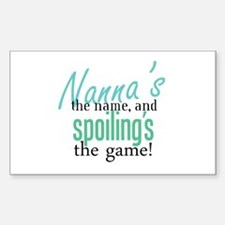 Nanna's the Name Rectangle Bumper Stickers