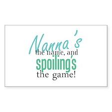 Nanna's the Name Rectangle Decal