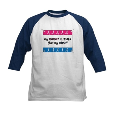 My Mommy is Faster - Running Kids Baseball Jersey
