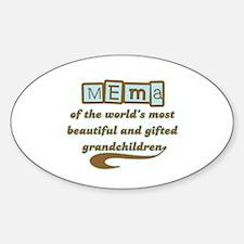 Mema of Gifted Grandchildren Oval Decal