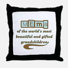 Mema of Gifted Grandchildren Throw Pillow