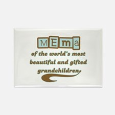 Mema of Gifted Grandchildren Rectangle Magnet