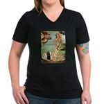 Venus / Schipperke #5 Women's V-Neck Dark T-Shirt