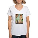 Venus / Schipperke #5 Women's V-Neck T-Shirt
