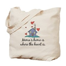 Mema's Home is Where the Heart Is Tote Bag