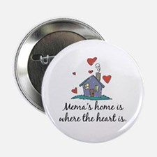 """Mema's Home is Where the Heart Is 2.25"""" Button"""