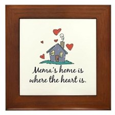 Mema's Home is Where the Heart Is Framed Tile