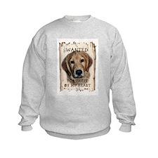 Golden Retriever Wanted Poste Sweatshirt