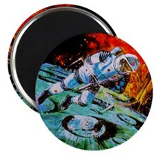"""""""MAN IN SPACE"""" Magnet"""
