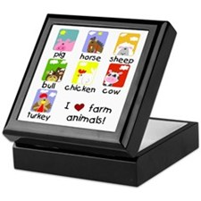 I Love Farm Animals Keepsake Box