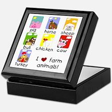 I Love Farm Animals Keepsake Box