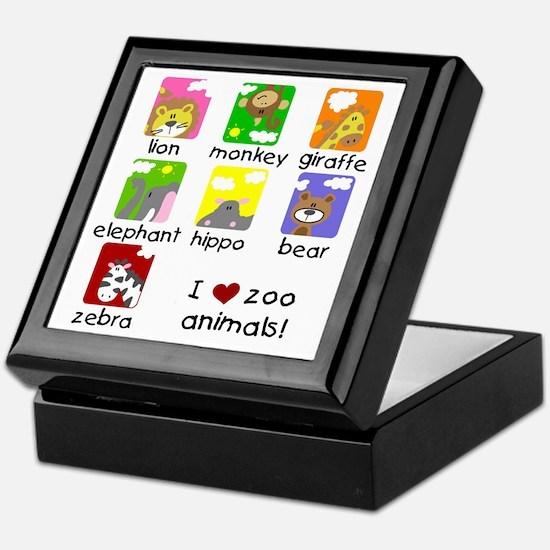 I Love Zoo Animals Keepsake Box