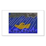 Noah Rocks Bible Rectangle Sticker