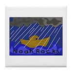 Noah Rocks Bible Tile Coaster