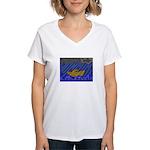 Noah Rocks Bible Women's V-Neck T-Shirt