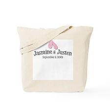 Jasmine & Justen Tote Bag