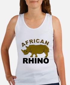 African Rhino Women's Tank Top