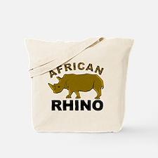 African Rhino Tote Bag