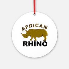 African Rhino Ornament (Round)