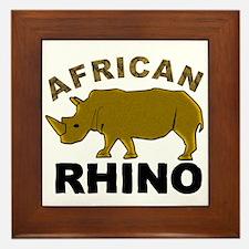 African Rhino Framed Tile