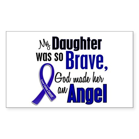 Angel 1 DAUGHTER Colon Cancer Rectangle Sticker