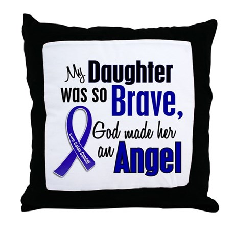 Angel 1 DAUGHTER Colon Cancer Throw Pillow