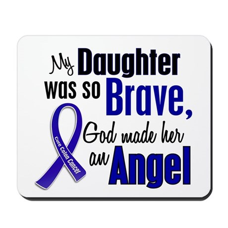 Angel 1 DAUGHTER Colon Cancer Mousepad