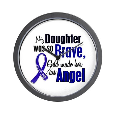 Angel 1 DAUGHTER Colon Cancer Wall Clock
