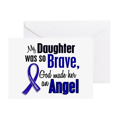 Angel 1 DAUGHTER Colon Cancer Greeting Card