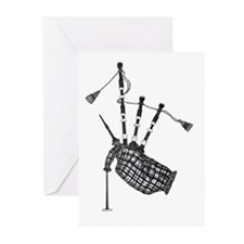 bagpipe Greeting Cards (Pk of 10)