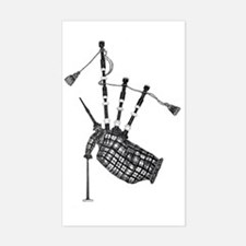 bagpipe Rectangle Decal