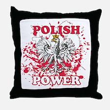 Polish power Throw Pillow