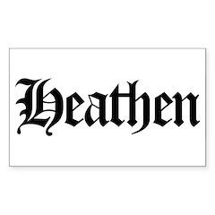 Heathen Rectangle Decal