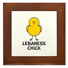 Lebanese Chick Framed Tile