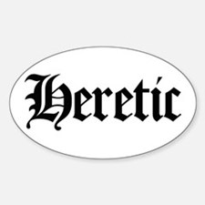 Heretic Oval Decal
