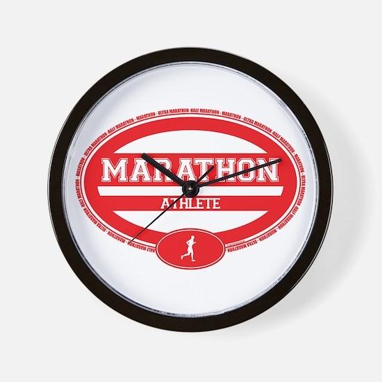 Marathon Oval - Men's Wall Clock