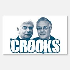 Chris and Barney Crooks Rectangle Decal